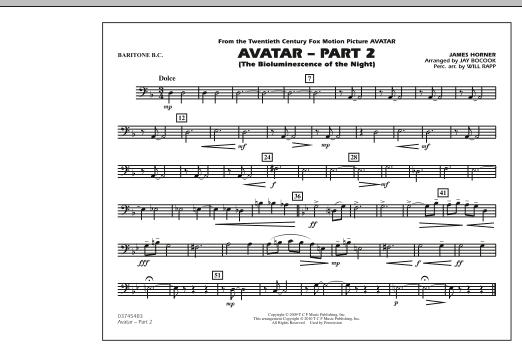 Avatar: Part 2 - Baritone B.C. (Marching Band)