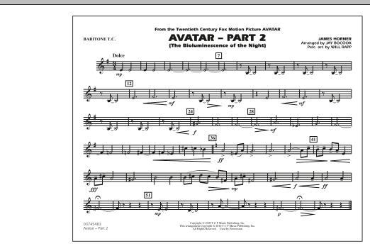 Avatar: Part 2 - Baritone T.C. (Marching Band)
