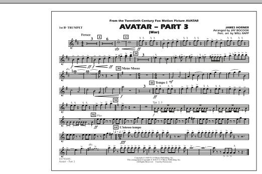 Avatar: Part 3 (War) - 1st Bb Trumpet (Marching Band)