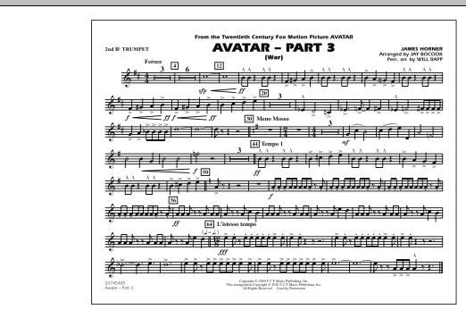 Avatar: Part 3 (War) - 2nd Bb Trumpet (Marching Band)