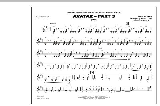 Avatar: Part 3 (War) - Baritone T.C. (Marching Band)