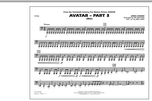 Avatar: Part 3 (War) - Tuba (Marching Band)