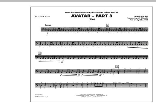 Avatar: Part 3 (War) - Electric Bass (Marching Band)