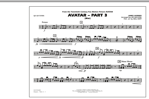 Avatar: Part 3 (War) - Quad Toms (Marching Band)