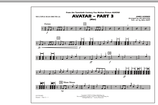 Avatar: Part 3 (War) - Multiple Bass Drums (Marching Band)