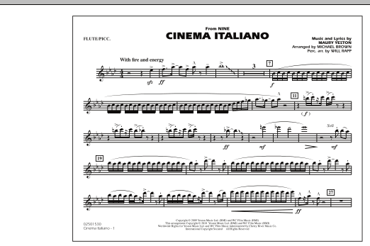 Cinema Italiano (from Nine) - Flute/Piccolo (Marching Band)