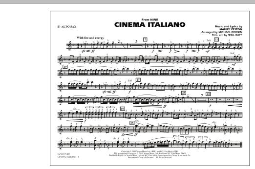 Cinema Italiano (from Nine) - Eb Alto Sax (Marching Band)