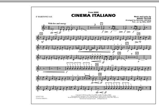 Cinema Italiano (from Nine) - Eb Baritone Sax (Marching Band)