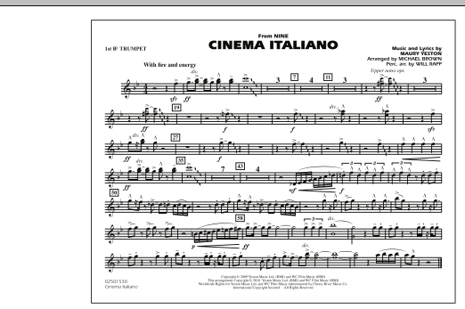 Cinema Italiano (from Nine) - 1st Bb Trumpet (Marching Band)