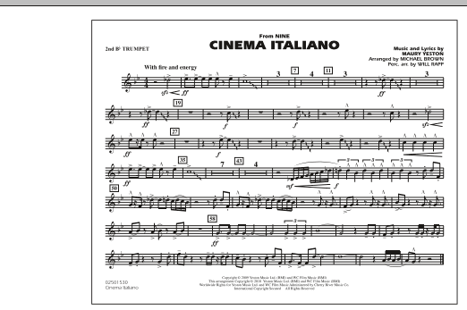 Cinema Italiano (from Nine) - 2nd Bb Trumpet (Marching Band)
