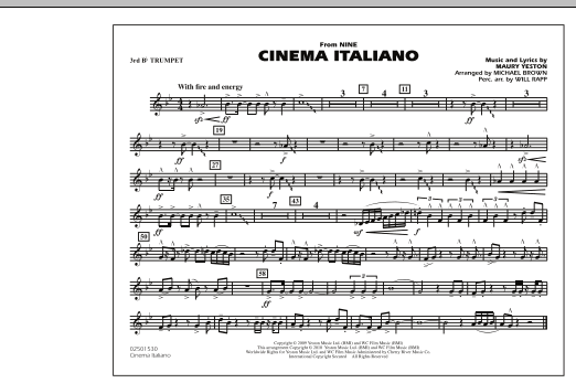 Cinema Italiano (from Nine) - 3rd Bb Trumpet (Marching Band)