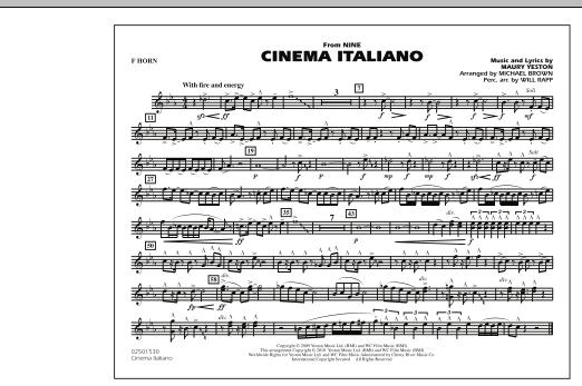 Cinema Italiano (from Nine) - F Horn (Marching Band)