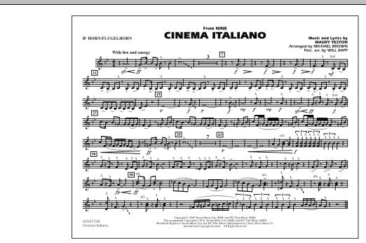 Cinema Italiano (from Nine) - Bb Horn/Flugelhorn (Marching Band)