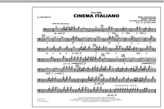 Cinema Italiano (from Nine) - 1st Trombone (Marching Band)