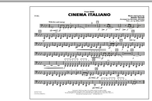 Cinema Italiano (from Nine) - Tuba (Marching Band)