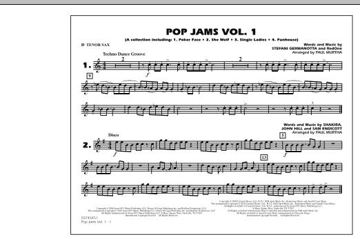Pop Jams: Vol. 1 - Bb Tenor Sax (Marching Band)