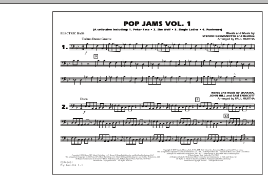 Pop Jams: Vol. 1 - Electric Bass (Marching Band)