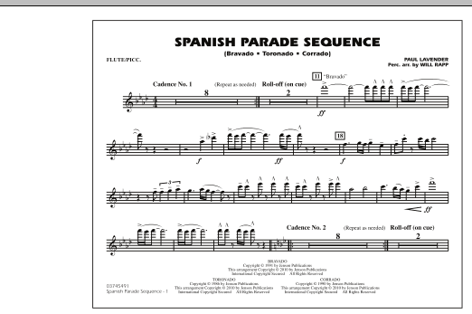 Spanish Parade Sequence - Flute/Piccolo (Marching Band)
