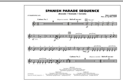 Spanish Parade Sequence - Eb Baritone Sax (Marching Band)