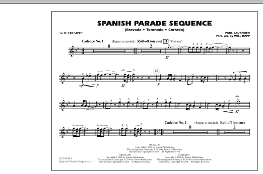 Spanish Parade Sequence - 1st Bb Trumpet (Marching Band)