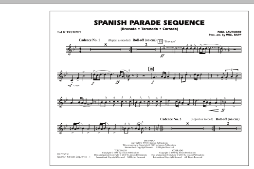 Spanish Parade Sequence - 2nd Bb Trumpet (Marching Band)