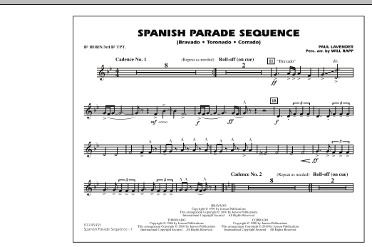 Spanish Parade Sequence - Bb Horn/3rd Bb Tpt (Marching Band)