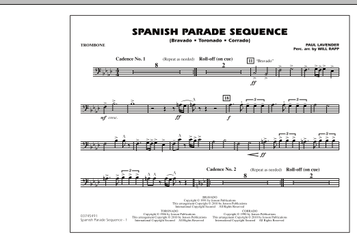 Spanish Parade Sequence - Trombone (Marching Band)
