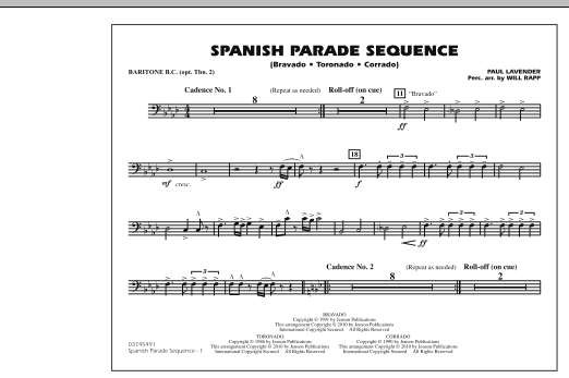 Spanish Parade Sequence - Baritone B.C. (Opt. Tbn. 2) (Marching Band)