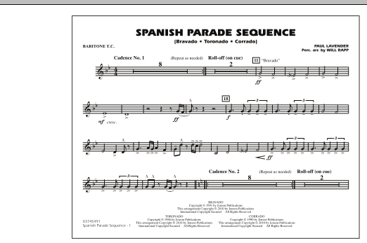 Spanish Parade Sequence - Baritone T.C. (Marching Band)