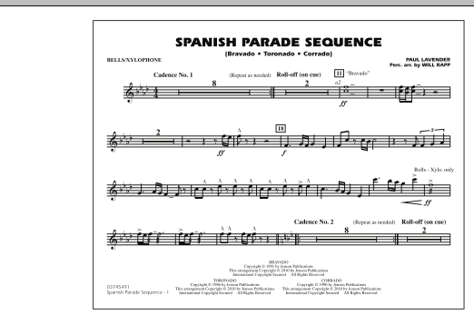 Spanish Parade Sequence - Bells/Xylophone (Marching Band)