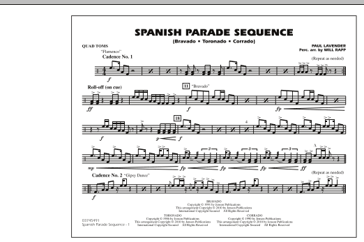 Spanish Parade Sequence - Quad Toms (Marching Band)