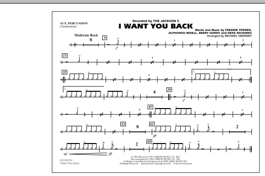 I Want You Back - Aux Percussion (Marching Band)