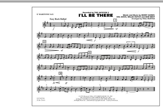 I'll Be There - Eb Baritone Sax (Marching Band)
