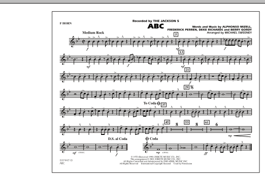 ABC - F Horn (Marching Band)