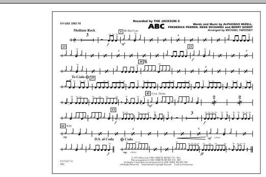 ABC - Snare Drum (Marching Band)