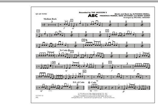 ABC - Quad Toms (Marching Band)