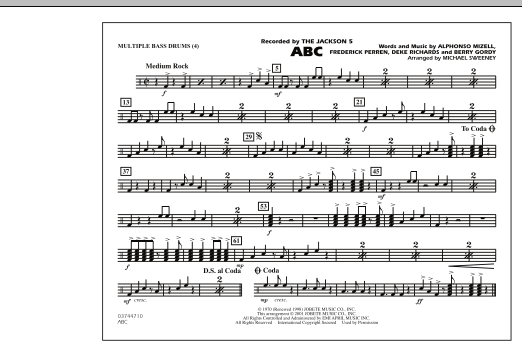 ABC - Multiple Bass Drums (Marching Band)