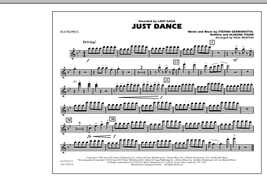 Just Dance - Flute/Piccolo (Marching Band)