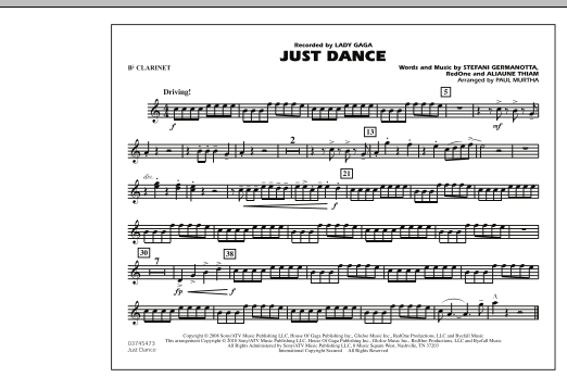 Just Dance - Bb Clarinet (Marching Band)