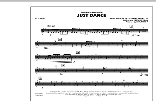 Just Dance - Eb Alto Sax (Marching Band)
