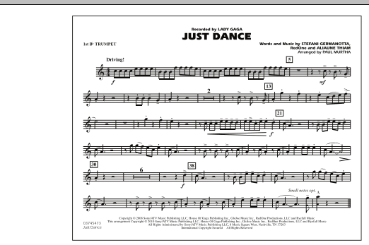 Just Dance - 1st Bb Trumpet (Marching Band)