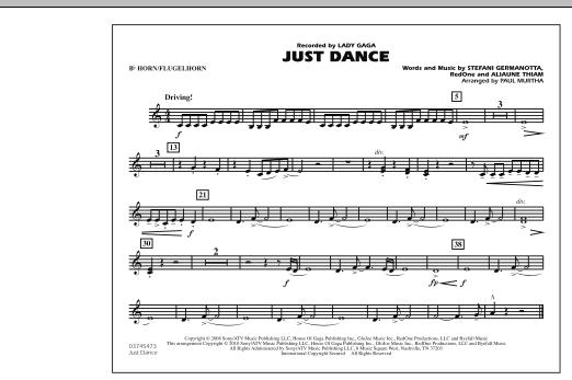 Just Dance - Bb Horn/Flugelhorn (Marching Band)