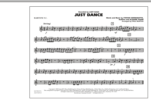 Just Dance - Baritone T.C. (Marching Band)