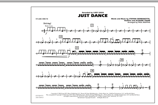 Just Dance - Snare Drum (Marching Band)