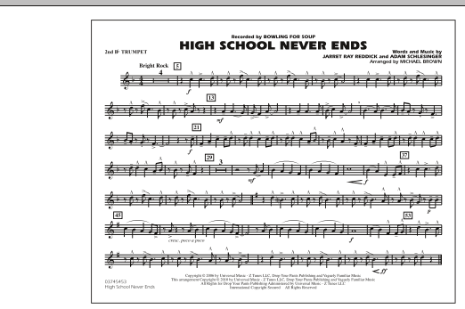 High School Never Ends - 2nd Bb Trumpet (Marching Band)