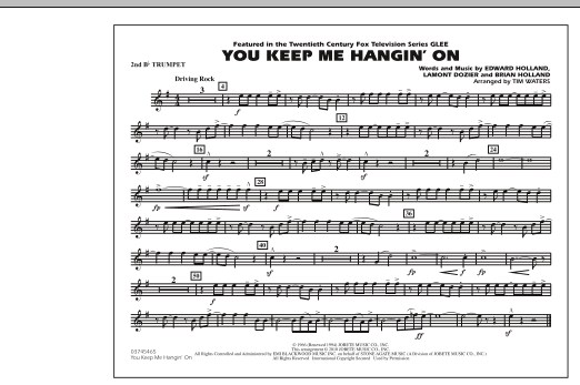 You Keep Me Hangin' On - 2nd Bb Trumpet (Marching Band)