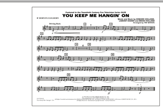 You Keep Me Hangin' On - Bb Horn/Flugelhorn (Marching Band)
