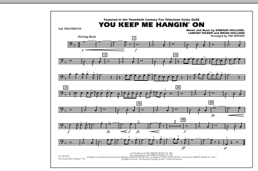 You Keep Me Hangin' On - 2nd Trombone (Marching Band)