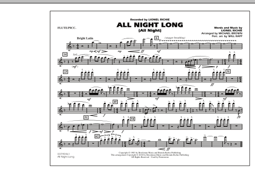 All Night Long (All Night) - Flute/Piccolo (Marching Band)