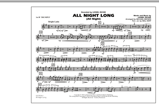 All Night Long (All Night) - 1st Bb Trumpet (Marching Band)